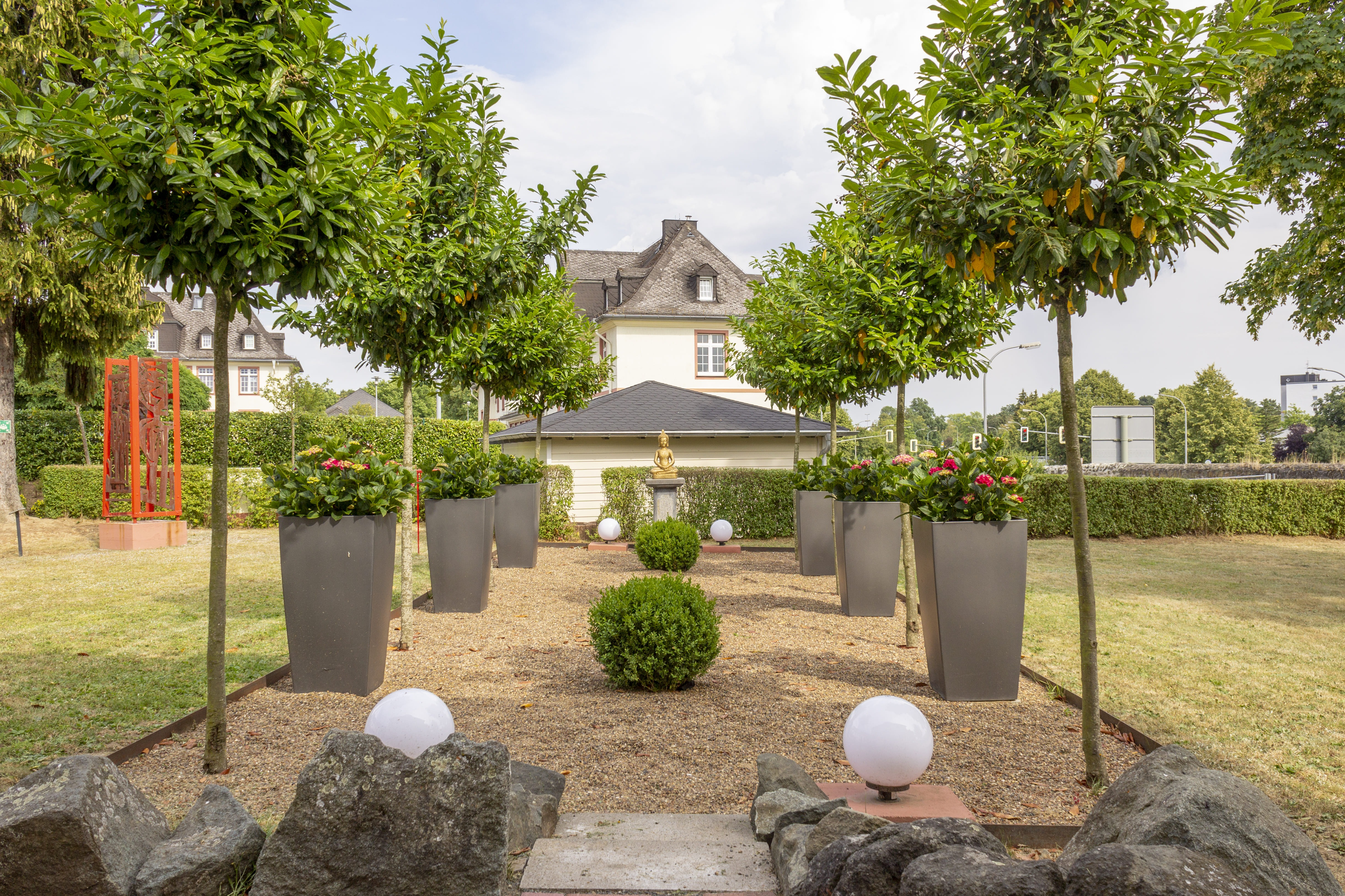 Der Zentgarten im Gewerbepark Spilburg