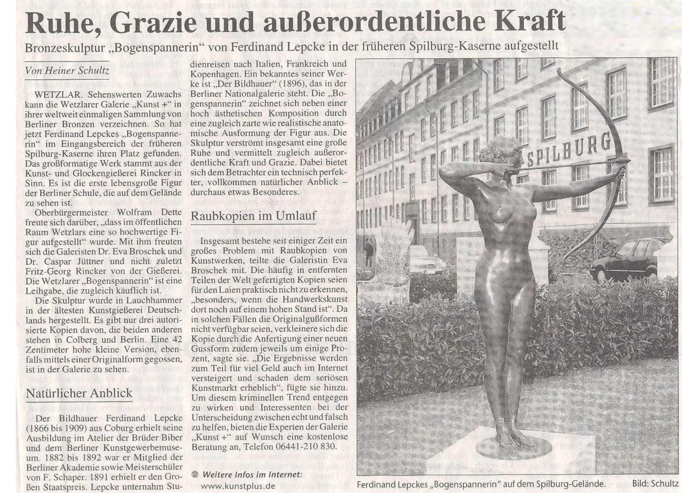 Gießener Anzeiger ZHTK 2006 Artikel