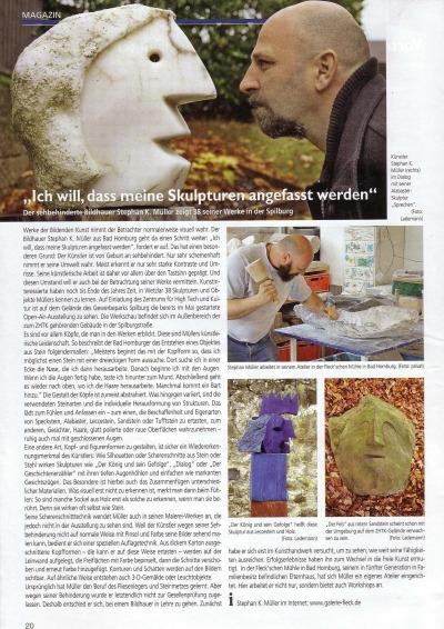 Stadtmagazin Skulpturen Mueller