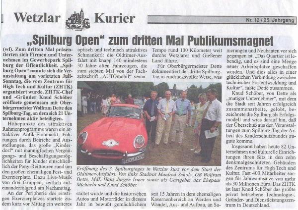 Wetzlar Spilburg Open Artikel